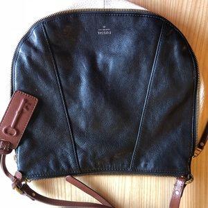 FOSSIL round cross body purse